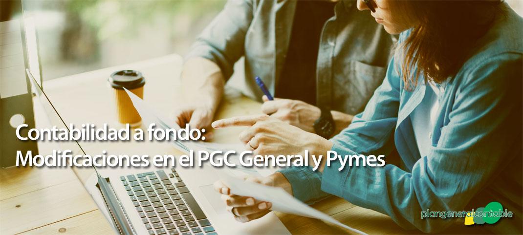 Modificación del PGC y del PGC de PYMES
