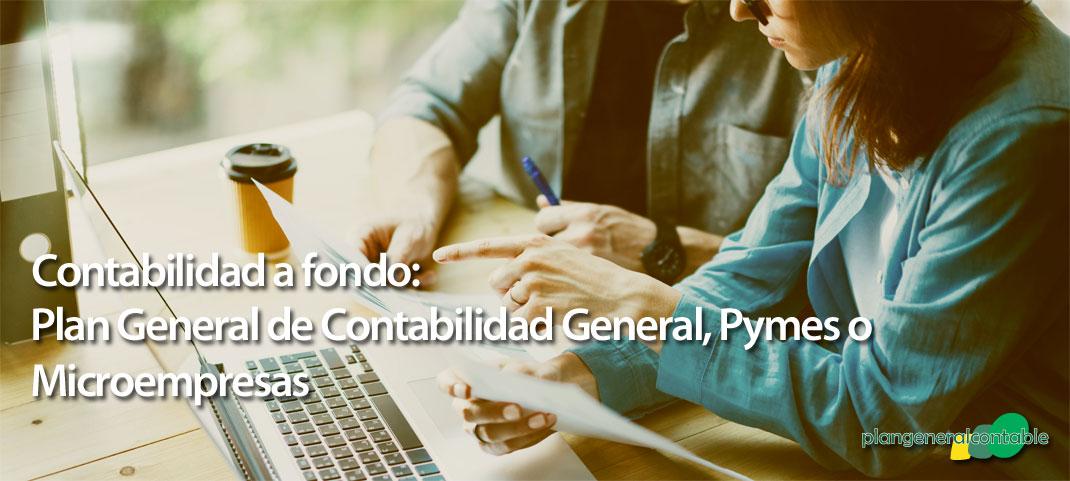 Plan General de Contabilidad: ¿General, Pymes o Microempresas?