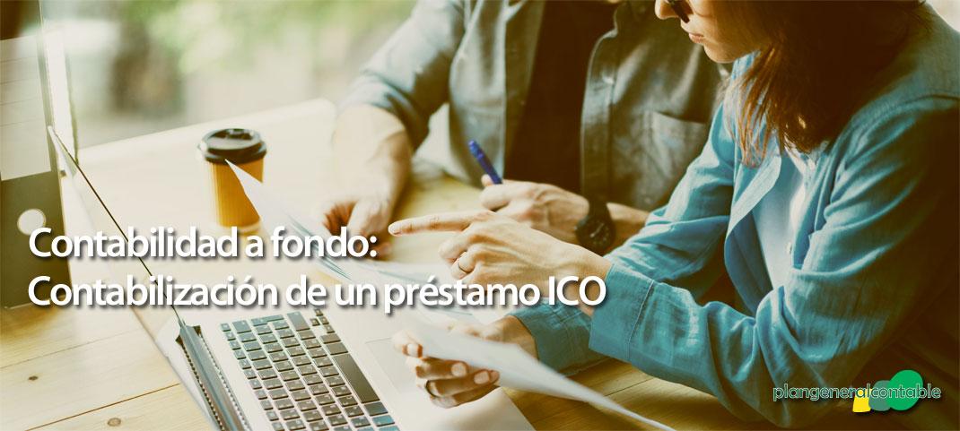 Contabilización de un préstamo ICO
