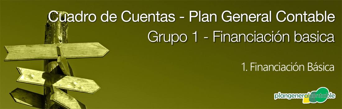 Cuadro de cuentas Plan General Contable: 102. Capital