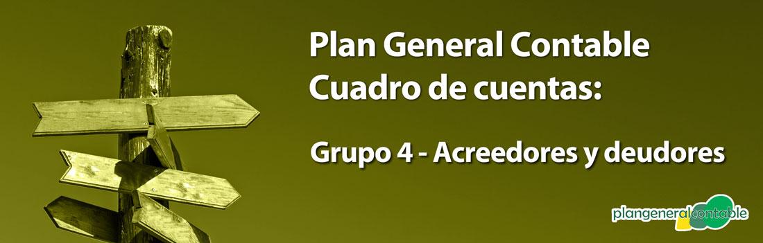 Cuadro de cuentas Plan General Contable: 44. Deudores varios