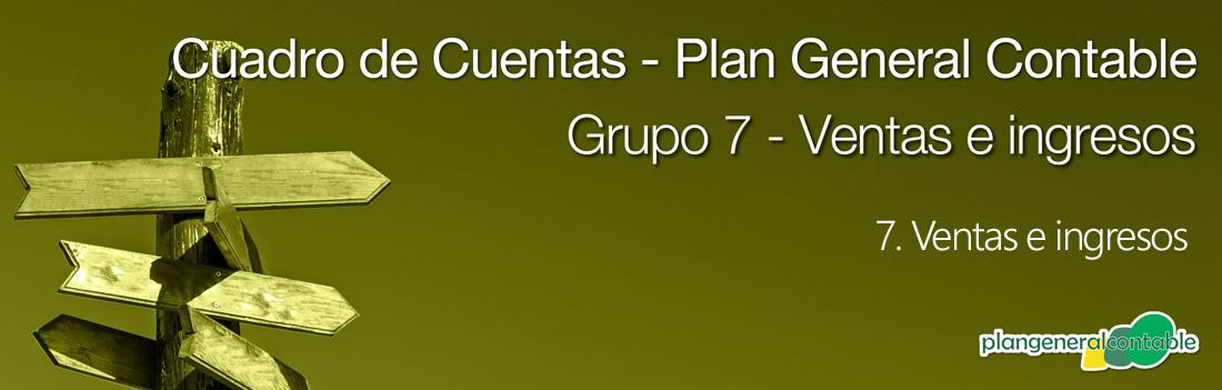 Cuadro de cuentas Plan General Contable: 73. Trabajos realizados para la empresa