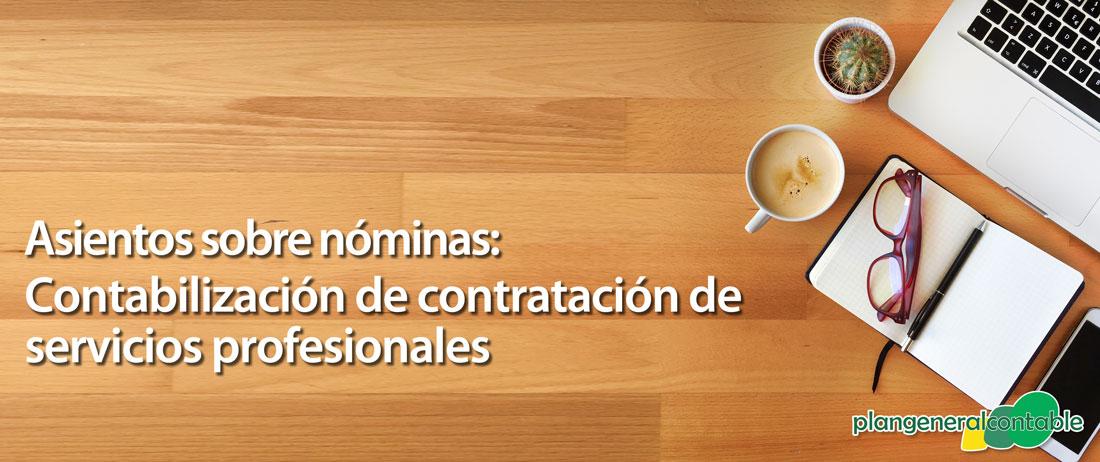 Contabilización de contratación de servicios profesionales